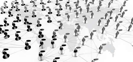 group network: Social Network concept on earth background