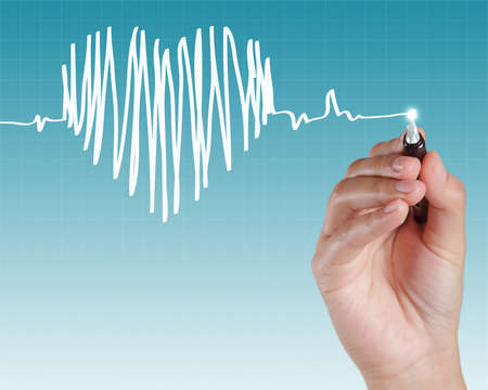 tachycardia: Medicine, Hand drawing as concept