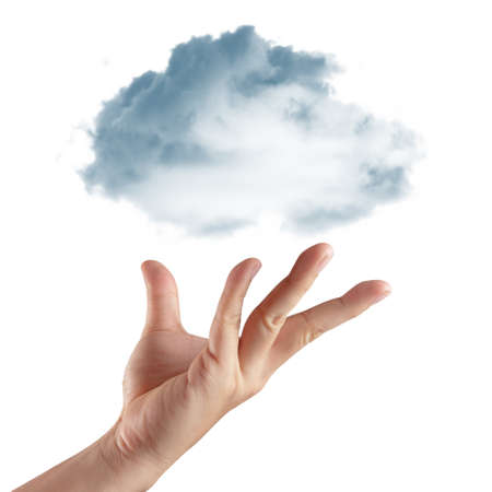 Cloud computing concept with copy space photo