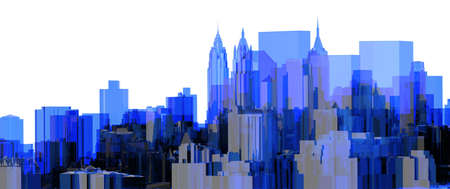 City Blue xray transparent rendered photo