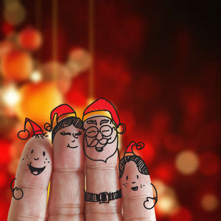 Fingers Family and christmas background