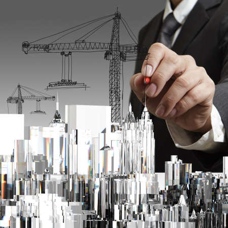 Abstract building. Architecture design and model my own Stock Photo - 15069983