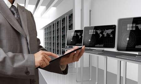 people drawing cloud network server Reklamní fotografie