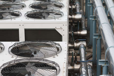 thermodynamic: Cooling tower close up shot