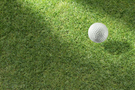 Golf ball on green tee Stock Photo - 16064020
