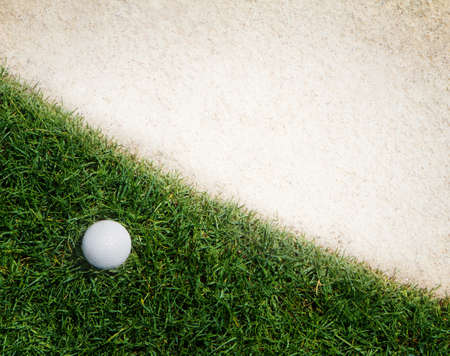 golf glove: Golfer putting a ball on the green of a golf course