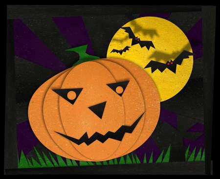 halloween pumpkin on theme background Stock Photo - 16064025
