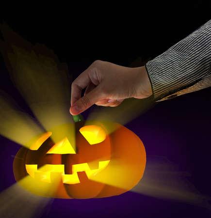 halloween pumpkin on theme background Stock Photo - 16064141