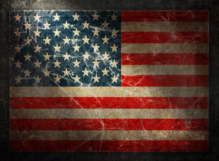 Grunge flag of USA. Horizontal composition photo