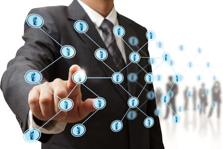 business relationship: social network structure Stock Photo