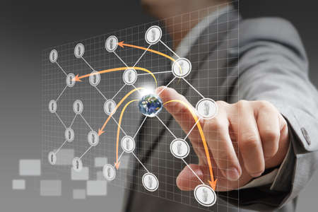 social network structure, Elements of this image furnished by NASA Stock Photo