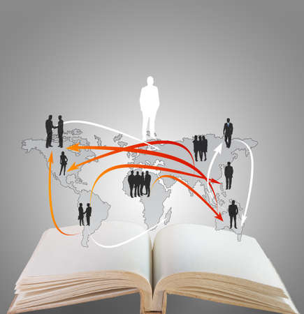 net book: open book of social network structure Stock Photo