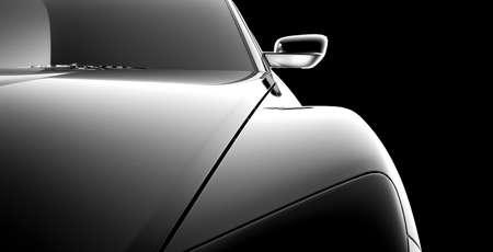soñar carro: coche modelo abstracto sobre negro Foto de archivo