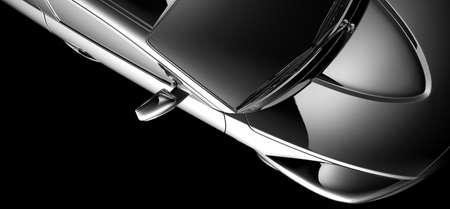 modèle de voiture abstrait sur fond noir