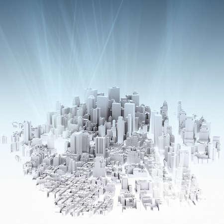 obraz 3d render z města stvol a světlém pozadí