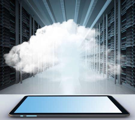 Cloud computing koncept s kopií vesmíru