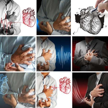 ulc�re: collection de crise cardiaque Banque d'images