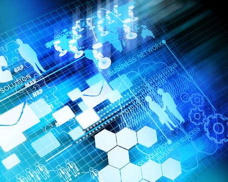 Obchodní síť budoucí pozadí