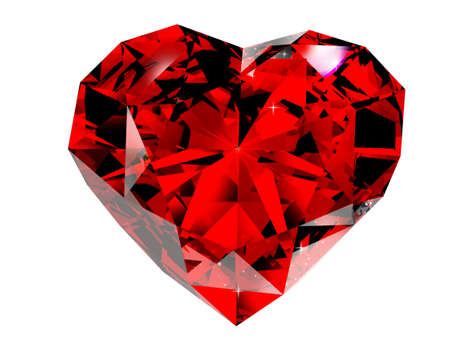 red diamond 3d rendering photo