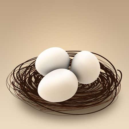 home birth: three eggs in a nest