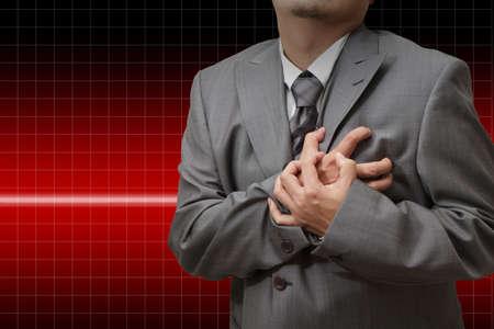 lung disease: Heart Attack business man