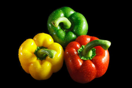 bell peppers: Bell Pepper with black background