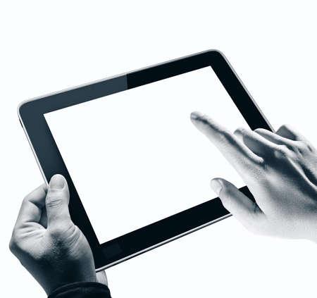 digi: Hands holding and point on digi
