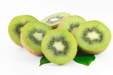 kiwi fruit isolated on white background photo