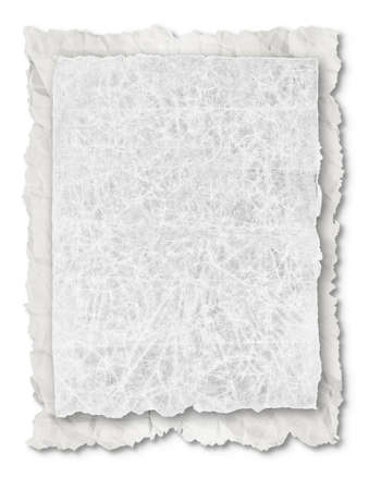 collection of various white note papers on white background. Reklamní fotografie - 16424669