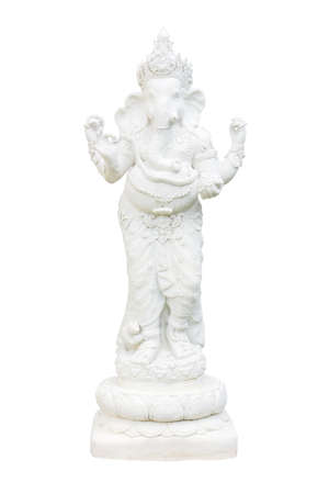 Ganesh white isolation photo