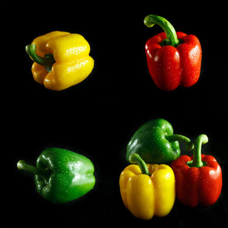 Bell Pepper with black background