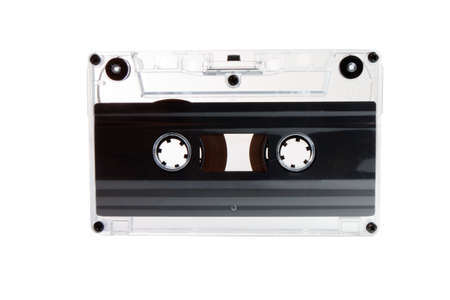 audio cassette: Clear transparent compact cassette