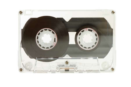 Clear transparent compact cassette Stock Photo - 16421267