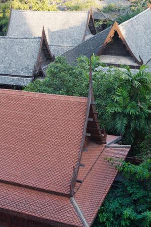 Thai temple roof decoration