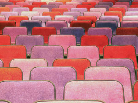 red cinema or theater empty seats photo