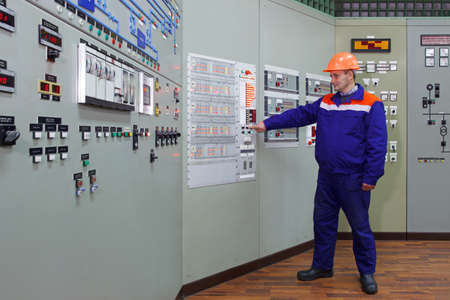 indication: Engineer checks indication on fire fighting panel