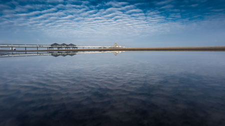 The pier of Heringsdorf on the Baltic Sea island of Usedom.