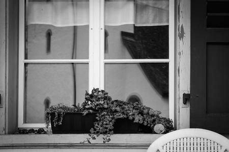 Cafe Window in Switzerland 스톡 콘텐츠