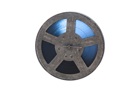 film reel camera equipment cinema accessories isolated Фото со стока