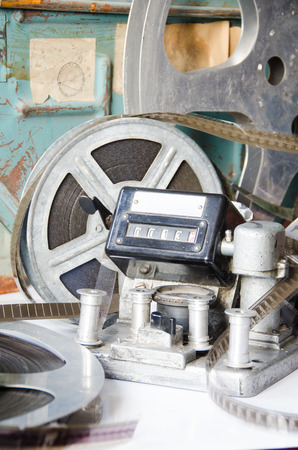 16mm: retro camera equipment with cinema accessories