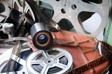 filmmaker: retro camera equipment with cinema accessories
