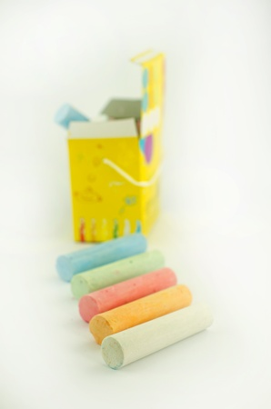 tar paper: Isolated chalk in stick