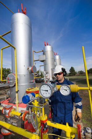 Operator in natural gas industry photo