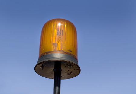 flashing light: Close up of orange flashing light on machinery Stock Photo