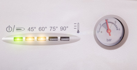 thermodynamic: Detail of control panel of house heating boiler