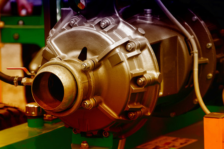 exhibiting: Part of an engine exhibiting on a fair show