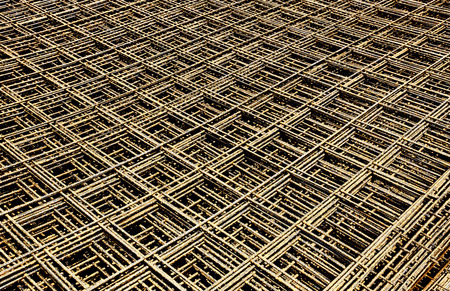 ribbed slab: Abstract image of reinforcement steel mesh for concrete slabs