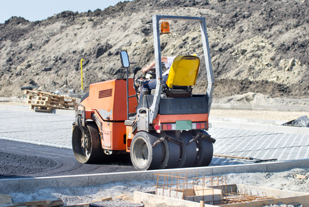 roller compactor: Roller compactor for asphalting working at road construction site