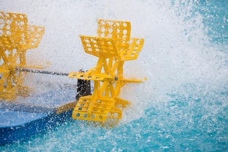 aerator: Plastic water turbine wheel fill oxygen into water in the pool