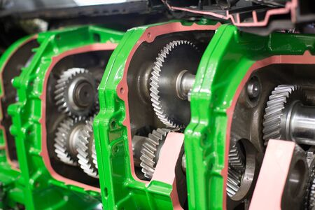 Gear wheels in agricultural machinery. Mechanical details